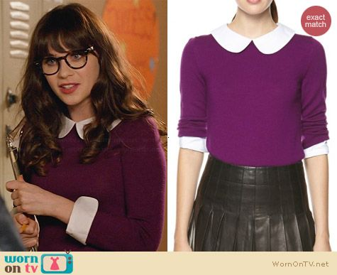 Alice & Olivia Porla Sweater worn by Zooey Deschanel on New Girl