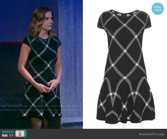 Alice & Olivia Printed Drop Waist Dress worn by Jen Lilley on Days of our Lives