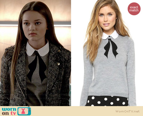 Alice & Olivia Ribbon Bow Sweater worn by Ciara Bravo on Red Band Society