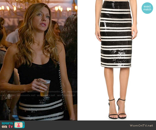 Alice & Olivia Rue Skirt worn by Jes Macallan on Mistresses
