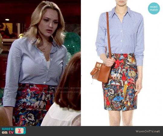 Alice & Olivia Ruela Dress worn by Hunter King on The Young & the Restless