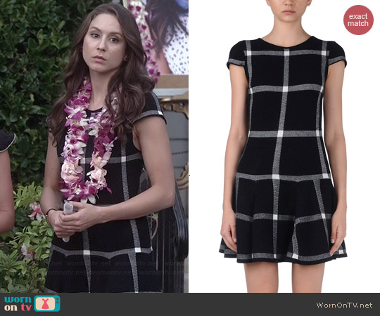 Alice + Olivia Selma Dress worn by Troian Bellisario on PLL