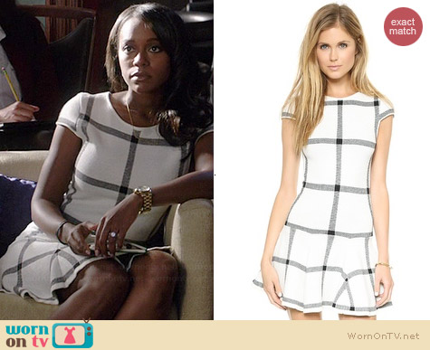 Alice & Olivia Selma Dress worn by Aja Naomi King on HTGAWM