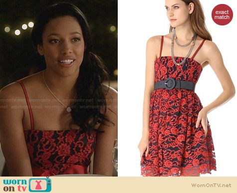 Alice + Olivia Sia Dress worn by Kylie Bunbury on Twisted