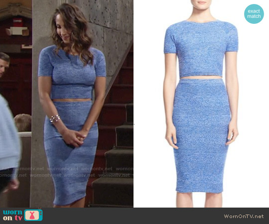Alice & Olivia Solange Top and Morena Skirt worn by Christel Khalil on The Young & the Restless