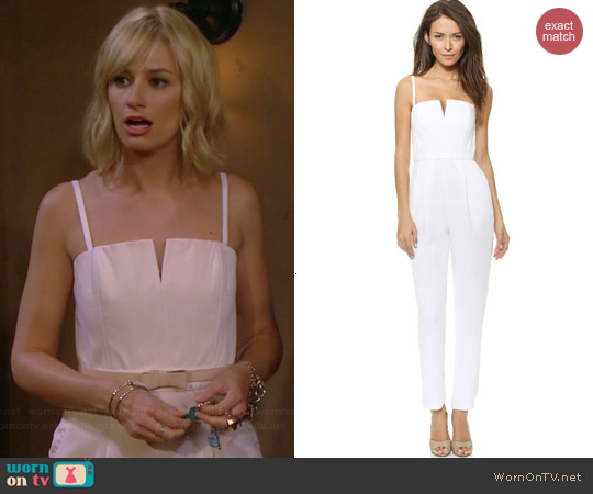 Alice & Olivia Tank Pleat Jumpsuit worn by Beth Behrs on 2 Broke Girls