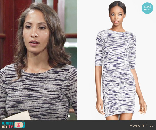 Alice & Olivia Textured Sweater Dress worn by Christel Khalil on The Young & the Restless