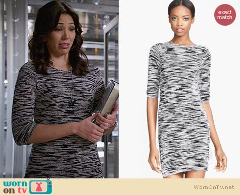 Alice & Olivia Textured Sweater Dress worn by Michaela Conlin on Bones