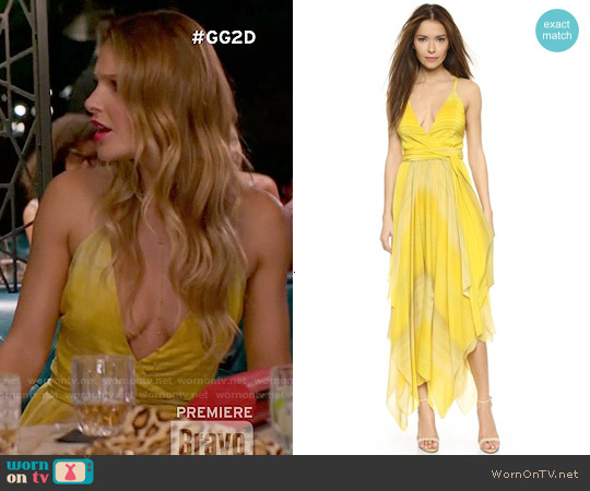 Alice & Olivia 'Tonia' Handkerchief Dress worn by Beau Garrett on GG2D