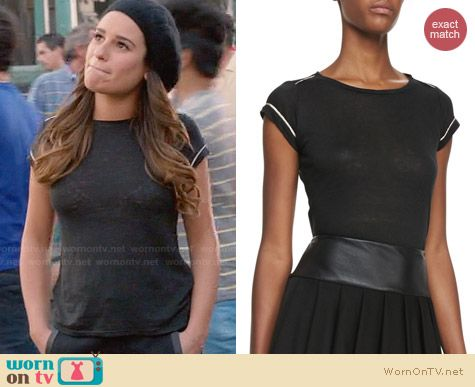 Alice & Olivia 'Tran' Tee worn by Lea Michele on Glee