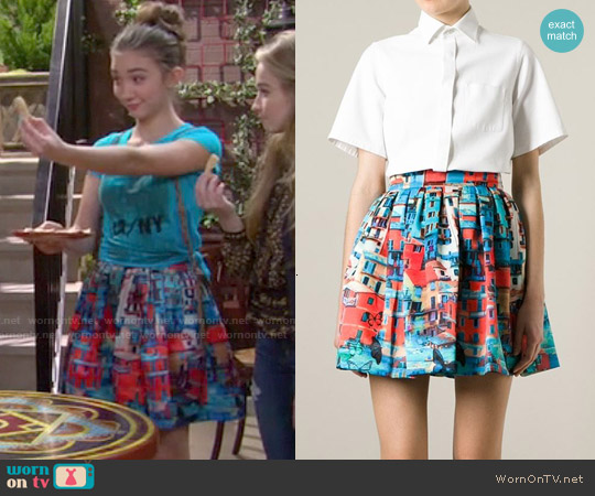 Alice + Olivia Venetian Skirt worn by Rowan Blanchard on Girl Meets World