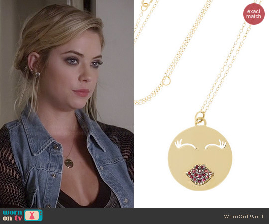 Alison Lou Mwa Necklace worn by Ashley Benson on PLL