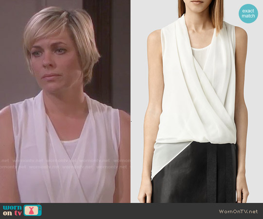 All Saints Abi Top in Chalk worn by Arianne Zucker on Days of our Lives