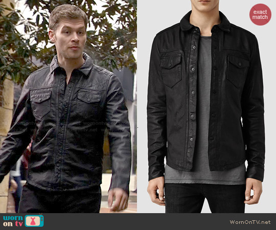 All Saints Alberton Leather Shirt worn by Joseph Morgan on The Originals