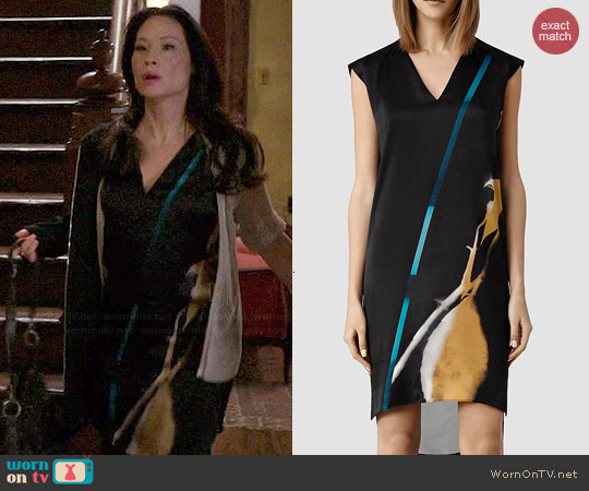 All Saints Alia Disperse Dress worn by Joan Watson on Elementary