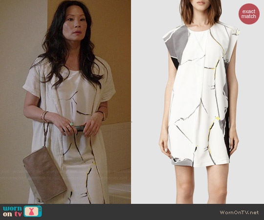All Saints Anais Torn Dress worn by Lucy Liu on Elementary
