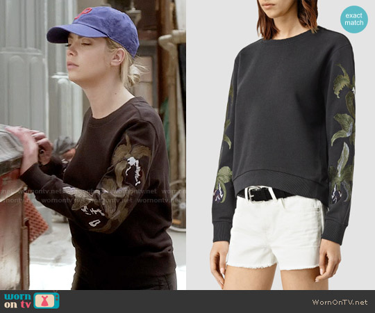 All Saints Anya Sweat worn by Ashley Benson on PLL