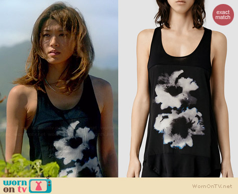 All Saints Aura Tank worn by Grace Park on Hawaii Five-O
