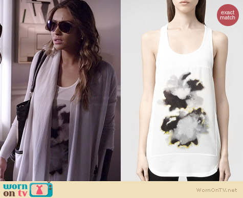 All Saints Aura Tank worn by Shay Mitchell on PLL