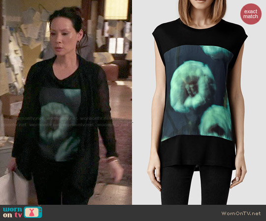 All Saints Aven Tee worn by Joan Watson on Elementary