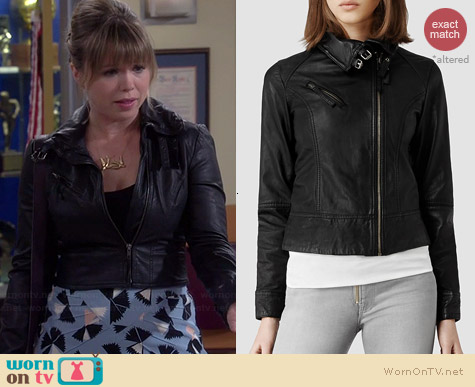 All Saints Belvedere Jacket worn by Amanda Fuller on Last Man Standing
