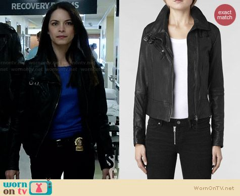 All Saints Belvedere Jacket worn by Cat Chandler on Beauty and the Beast