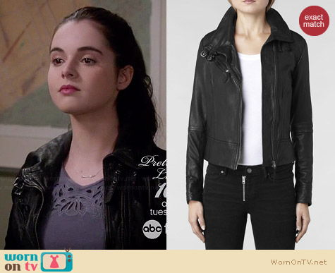 All Saints Belvedere Jacket worn by Vanessa Marano on Switched at Birth