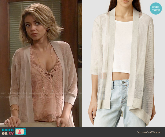 All Saints Bishi Cardigan worn by Haley Dunphy on Modern Family