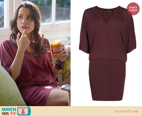 All Saints Candace Dress worn by Natalie Morales on Trophy Wife