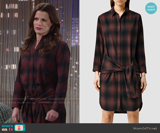 All Saints  Cannan Check Dress worn by Melissa Claire Egan on The Young & the Restless