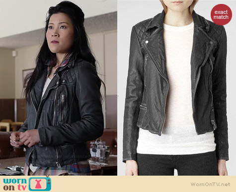 All Saints Cargo Biker Jacket worn by Jadyn Wong on Scorpion
