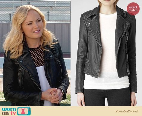 All Saints Cargo Biker Jacket worn by Malin Akerman on Trophy Wife
