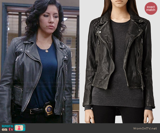 All Saints Cargo Biker Jacket worn by Stephanie Beatriz on Brooklyn Nine-Nine