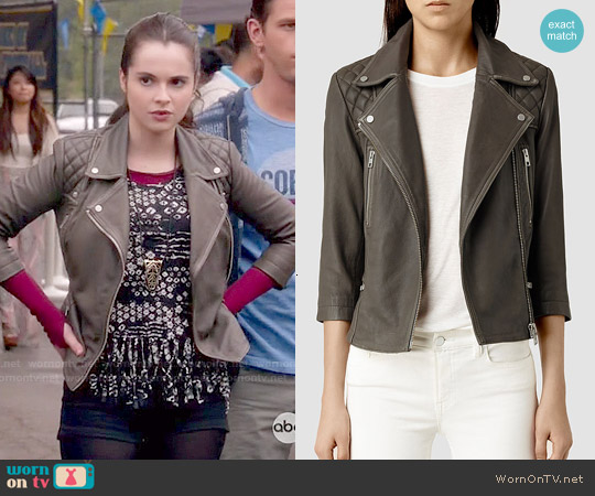 All Saints Cargo Jacket in Khaki worn by Bay Kennish on Switched at Birth