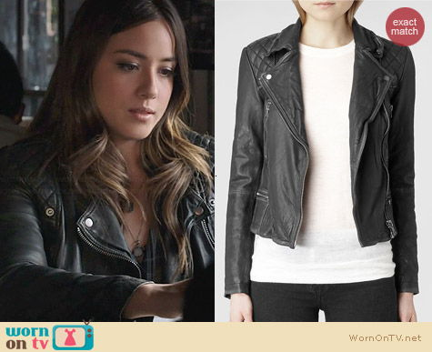 All Saints Cargo Leather Biker Jacket worn by Chloe Bennett on Agents of SHIELD