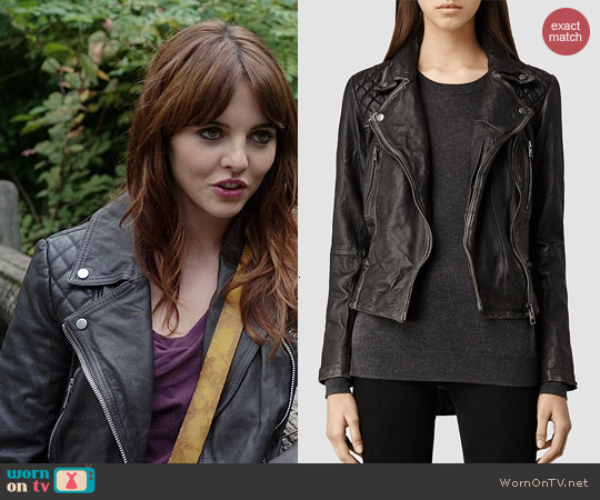 All Saints Cargo Biker Jacket worn by Ophelia Lovibond on Elementary