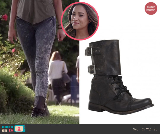 All Saints Damisi Boots worn by Emily Fields on PLL