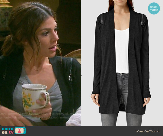 All  Saints Dash Cardigan worn by Marci Miller on Days of our Lives