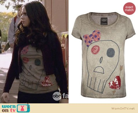 All Saints Embellished Valentine Tee worn by Vanessa Marano on Switched at Birth