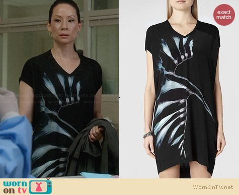 All Saints Emi Fressia Dress worn by Lucy Liu on Elementary