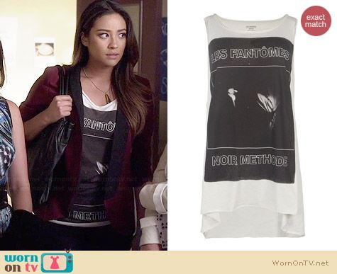 All Saints Fantomas Method Vest worn by Shay Mitchell on PLL