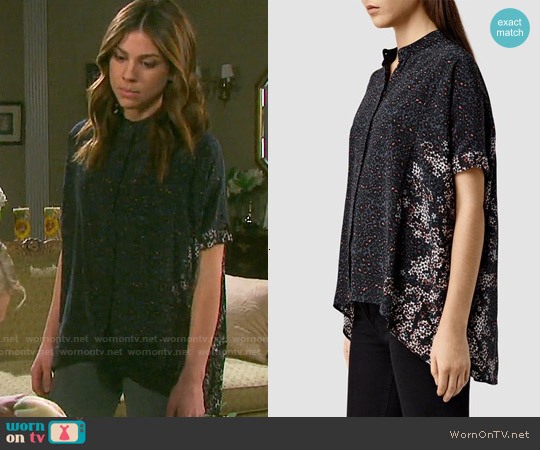 All Saints Fleet Virgo Shirt worn by Marci Miller on Days of our Lives