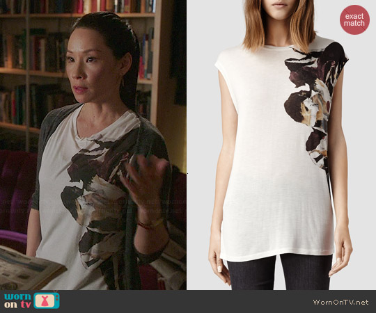 All Saints Flume T-shirt worn by Lucy Liu on Elementary