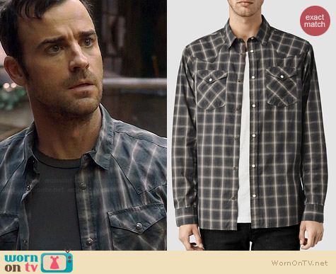 All Saints Frontier Shirt worn by Justin Theroux on The Leftovers