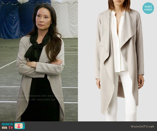 All Saints Hace Trench worn by Lucy Liu on Elementary