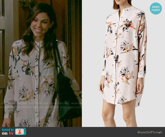 All Saints Helle Yoro Silk Dress worn by Marci Miller on Days of our Lives