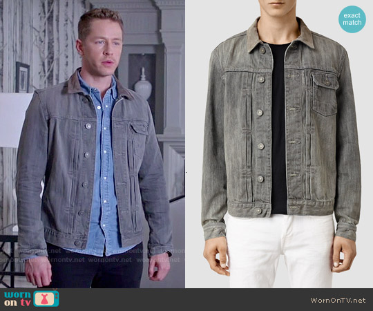 All Saints Hough Denim Jacket worn by Josh Dallas on OUAT