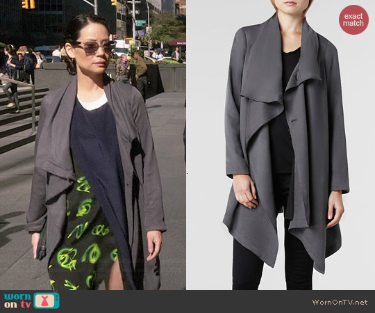 All Saints Hoxton Monument Coat worn by Lucy Liu on Elementary
