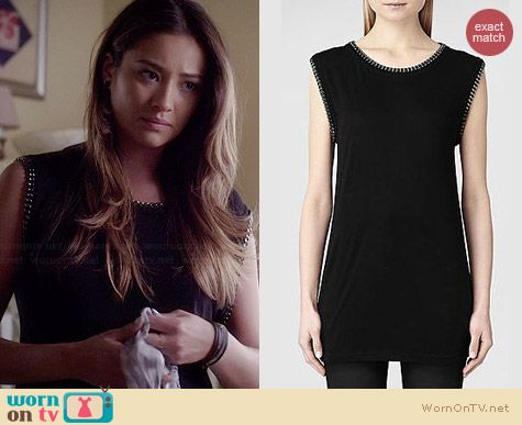 All Saints Ita Tee worn by Shay Mitchell on Pretty Little Liars