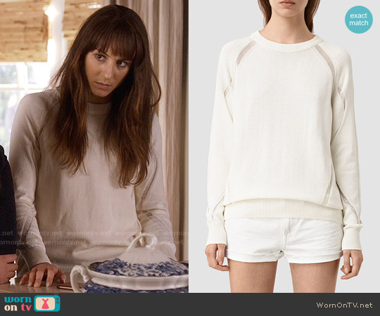 All Saints Lanta Sweater worn by Troian Bellisario on PLL